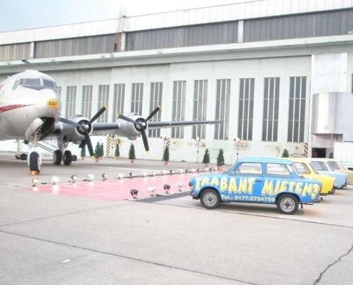 Empfang am Tempelhofer Flughafen